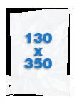 100 sacs Lisses 130 X 350 mm