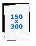 100 sacs gaufrés 150 X 300 mm