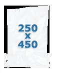 100 sacs gaufrés 250 X 450 mm