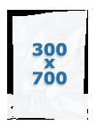 100 sacs gaufrés 300 X 700 mm