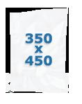 100 sacs gaufrés 350 X 450 mm