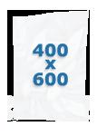 100 sacs gaufrés 400 X 600 mm