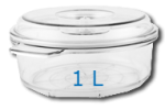 Boite ronde 1 Litre Diam: 190mm  Hauteur: 100mm