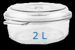 Boite ronde 2 Litre Diam: 230mm  Hauteur: 125mm