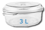 Boite ronde 3 Litre Diam: 270mm  Hauteur: 135mm